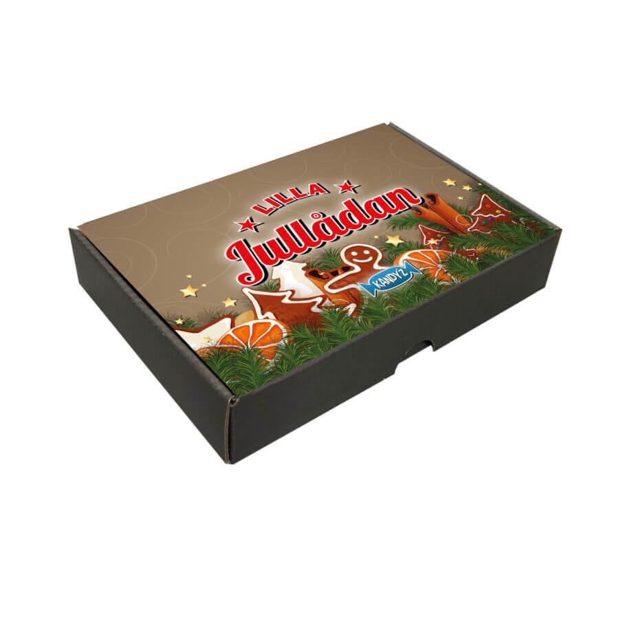 Godisbox med den godaste blandningen av inslaget godis. Godislådan för alla tillfällen
